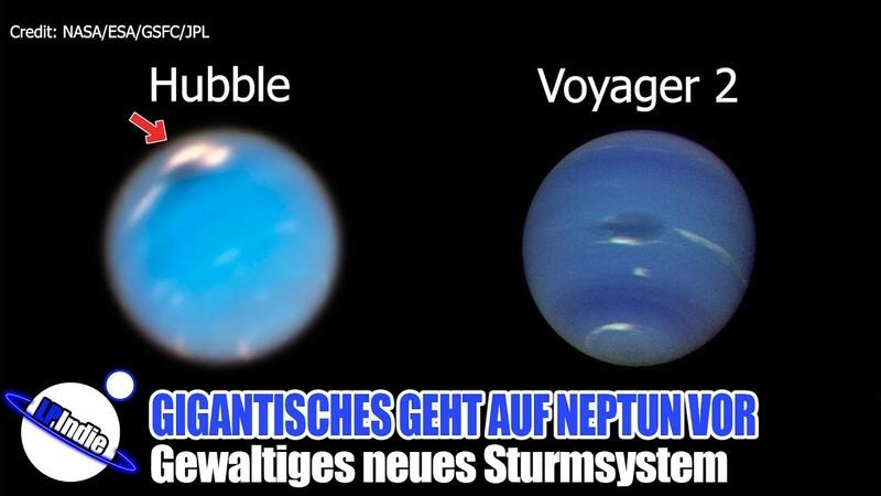 Gigantisches geht auf Neptun vor sich Gewaltiges neues Sturmsystem