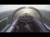 Учебный полёт по кругу на планере L 13 Бланик. L 13 Blanik glider training lap flight