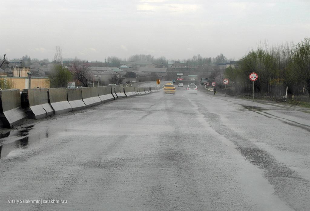 Дождь, дорога Бухара-Самарканд 2019
