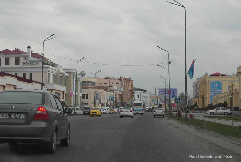 Улица в Самарканде, дорога из Бухары 2019