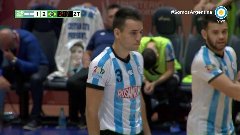 Penal para Argentina! Patea Coltes y Tiao le tapó el remate Mundial de Futsal Misiones 2019