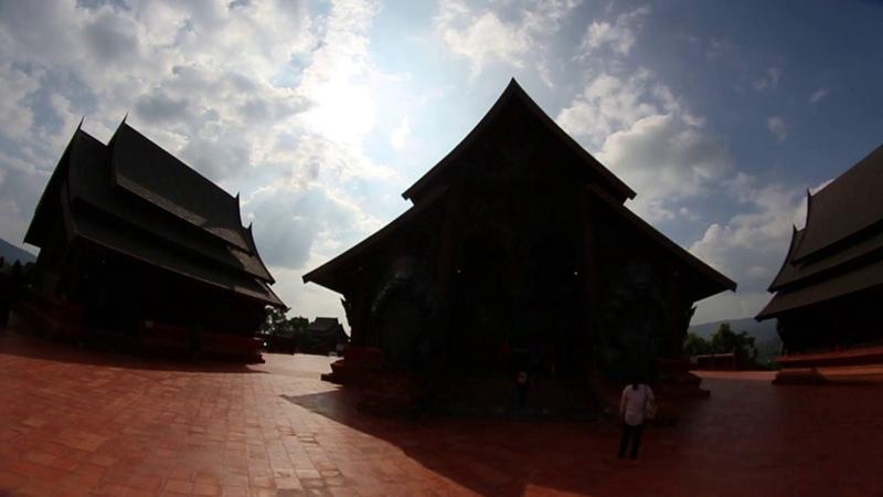 Free Video Footages - Wat som det Phuruea Ming Maung Temple , Phu Rua , Loei , Thailand