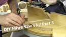 Pivoting Mitre Saw Base Part 3 Zero Clearance Insert Dust Flange and Increments