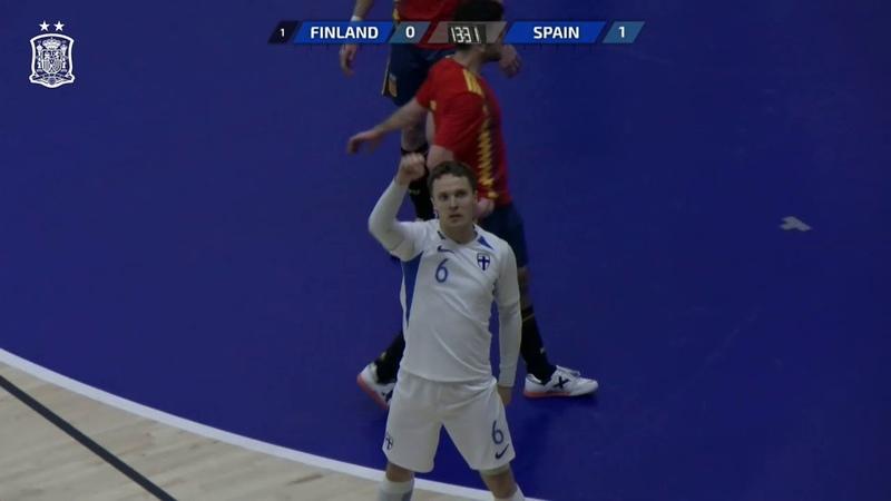 GOLES | Finlandia 1-2 España | Fútbol Sala