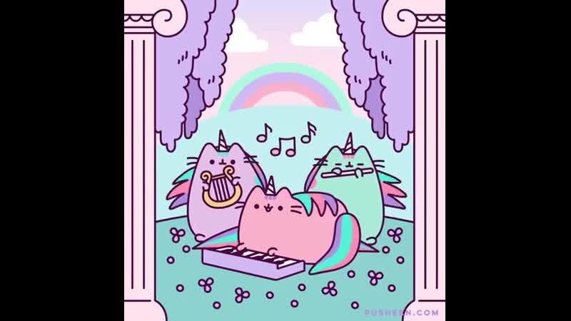 Pusheen the cat 💜🎶💜🎶💜