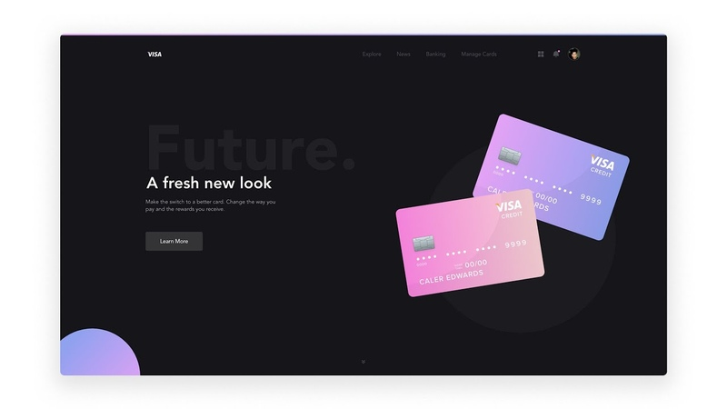Web Design Tutorial with Adobe XD - Credit Card Landing Page