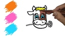 Coloring for kids How to draw a COW