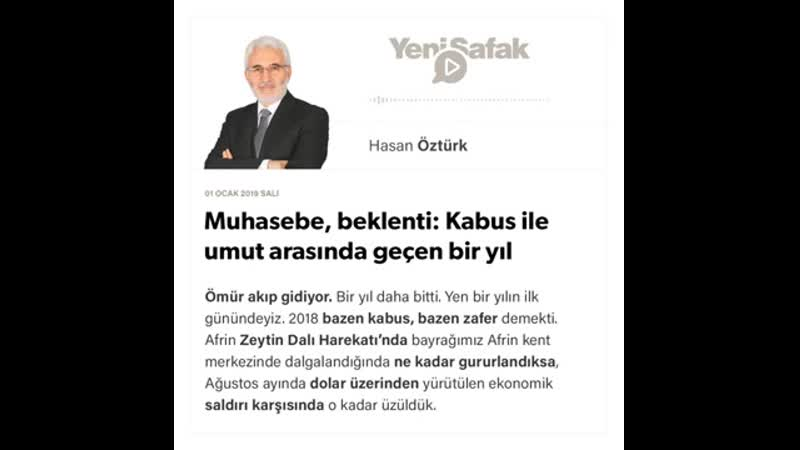 Hasan Öztürk Muhasebe beklenti Kabus ile umut arasında geçen bir yıl 01 01 2019