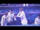 121229 EXO Kris helping out the members during SBS Gayo Daejun
