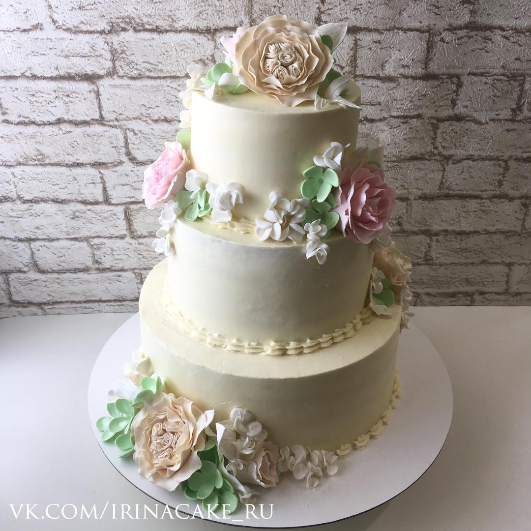 Свадебный торт с цветами (Арт. 469)