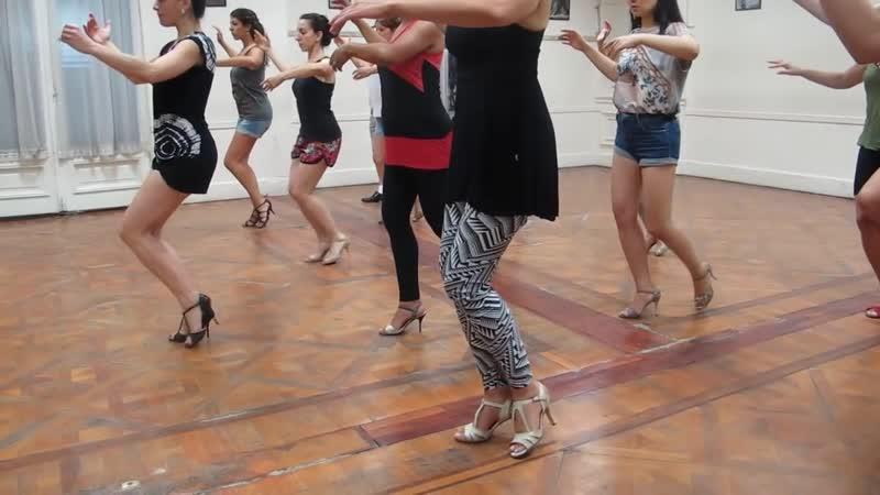 Танго Нуэво Paula Franciotti, Técnica Mujer en Tango (cadencia, Musicalidad y Adornos) II