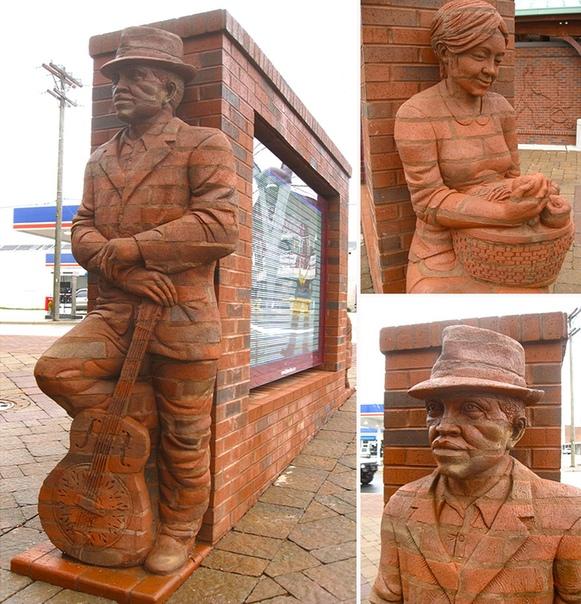 Необычные трехмерные скульптуры Брэда Спенсера ... из кирпича