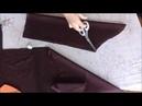 Платье - рубашка построение рукава по пройме на ткани. Часть 3
