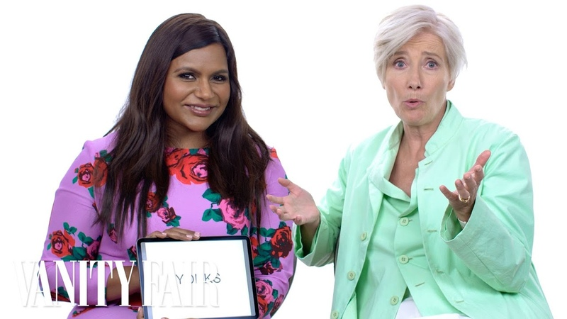 Emma Thompson and Mindy Kaling Teach You Posh British Slang   Vanity Fair