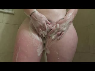 Girlfriend masturbates in shower and apologizes for cumming too soon - big ass butts booty tits boobs bbw pawg curvy mature milf