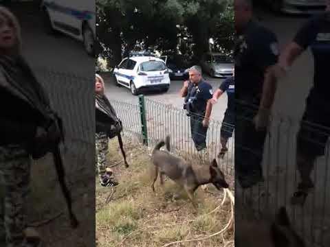 Un agent de la police municipale Marseillaise insulte une femme dans un parc