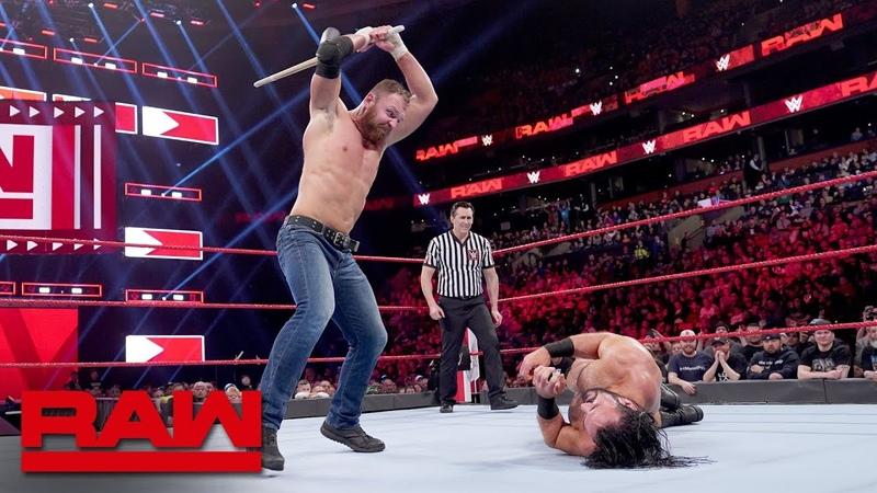 Dean Ambrose vs Drew McIntyre Last Man Standing Match Raw March 25 2019