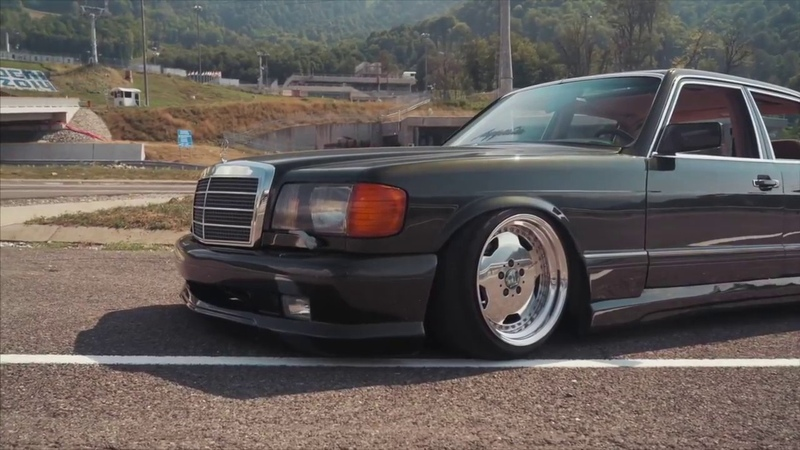 TOP STANCE W126 VIDEO Mercedes Benz SE and SEL