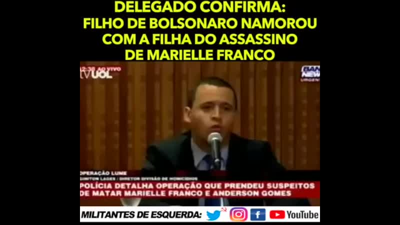 Delegado confirma que a filha do assassino de Marielle Franco namorou com filho .mp4