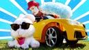 Видео про машинки для детей! Веселый Клоун в мастерской Зайца!
