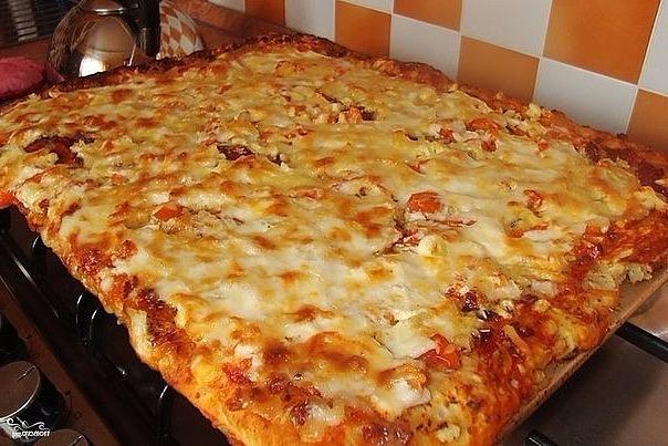 Быcтpaя пиццa нa пpoтивнe