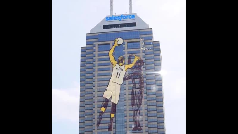 Our tribute to the hardest working team in basketball. This is your city @Pacers Light it up tonight! GoldDontQuit Pacers NBA In