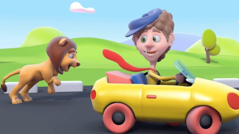 Driving My Car Song | 3D Rhymes Transportation Songs | Learn English Kids