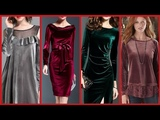 beautiful and Stylish women's velvet dresses styles 2019