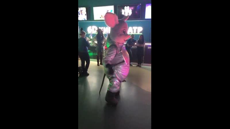 День рождения FFW - 3 года (танцы мышонка Уффи)