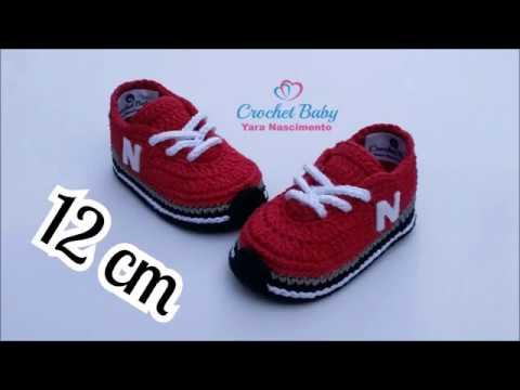 Tênis NEW BALANCE de crochê - Tamanho 12 cm - Crochet Baby Yara Nascimento