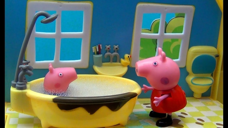 Peppa Pig en Français. Peppa et son frère George visite grands-parents Pig. George manque à sa mère