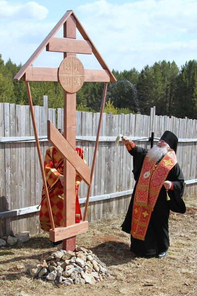 Освящен крест на месте строительства храма
