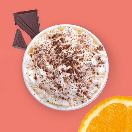 Капучино апельсин в шоколаде