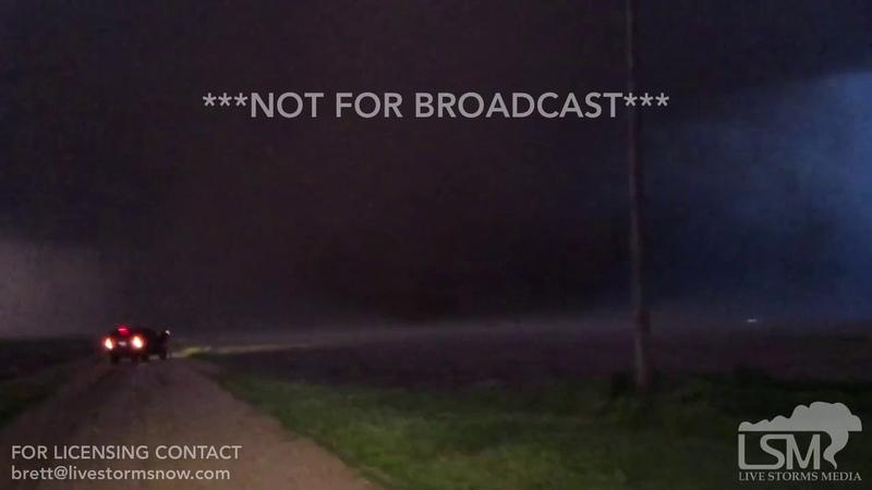 5-17-19 Dodge City, KS - 50 yards from Violent Tornado, Extreme Close Range