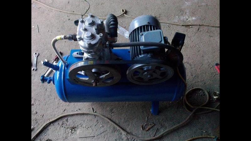 Самодельный компрессор воздуха - Homemade air compressor