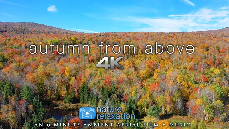 4K Fall Drone Video: Autumn From Above Classical Music by Nature Relaxation™ - New York State