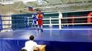 Еремин Алексей(синий угол) полуфинал чемпионат области по Боксу