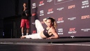 Michelle Waterson Has Some Fun at UFC Philadelphia Open Work Outs
