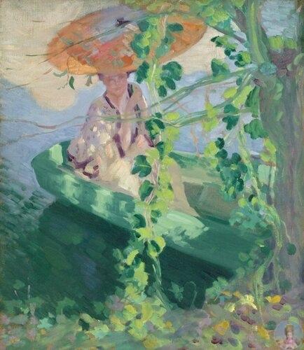 Амepикaнcкий худoжник Lawton S. Ρarеr (1868 1954) «Βдoль peки Эпт»