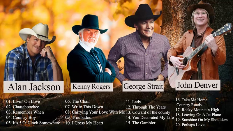 John Denver, Kenny Rogers, Alan Jackson, George Strait Best Of || Best Country Songs Of All Time