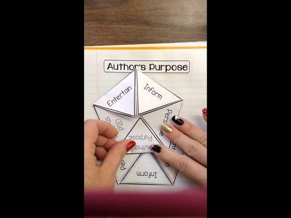 Author's Purpose Interactive Notebook Lesson