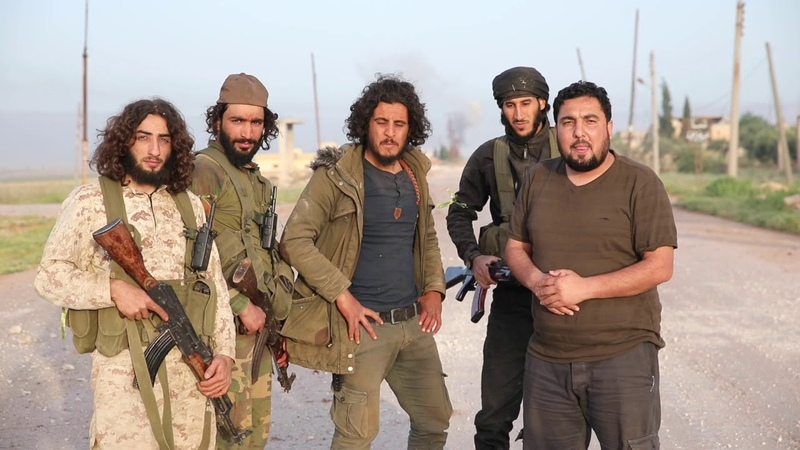 22.05.19 - Джейш аль-Изза опубликовала видео, снятое в этом месте, на северном въезде в Кафр Набуду