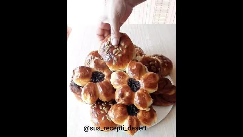 Сладкие булочки с начинками, Автор Сусанна Хачатрян . Кулинарный блог в инстаграм @sus_recepti_desert