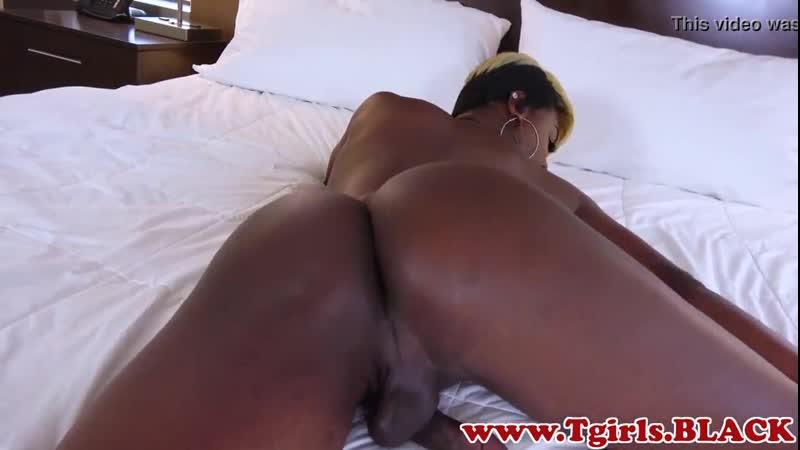 Trans Girl 7 shemale Busty ts strokes her huge black ( Gey Femboy Ladyboy Трапы Sissy Tranny гей