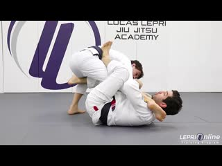 Lucas Lepri - De La Riva to One Leg X Sweep to Knee Cut to Side Control