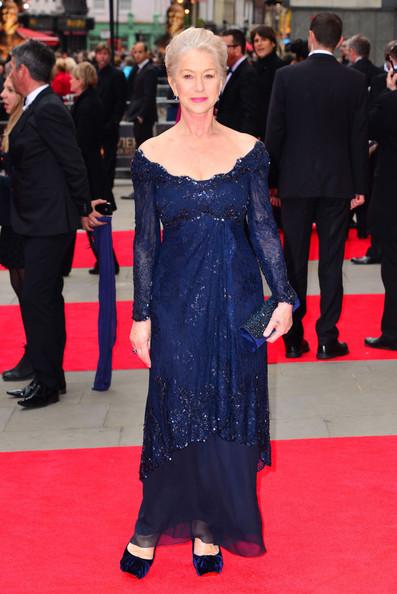 Хелен Миррен в синем