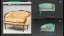 3d modeler chair French Settee Loveseat