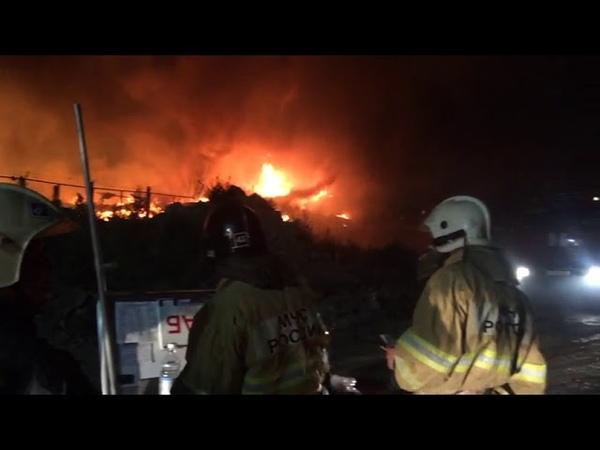 Пожар в Астрахани Дзержинского 36а