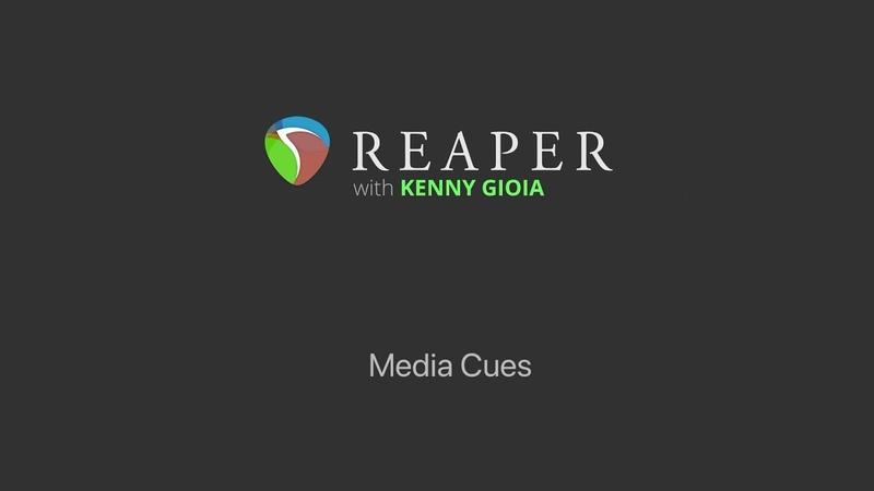 Media Cues in REAPER