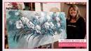 MONITOR | Gabriela Mensaque | cuadro con flores y stencil | Manos a la Obra